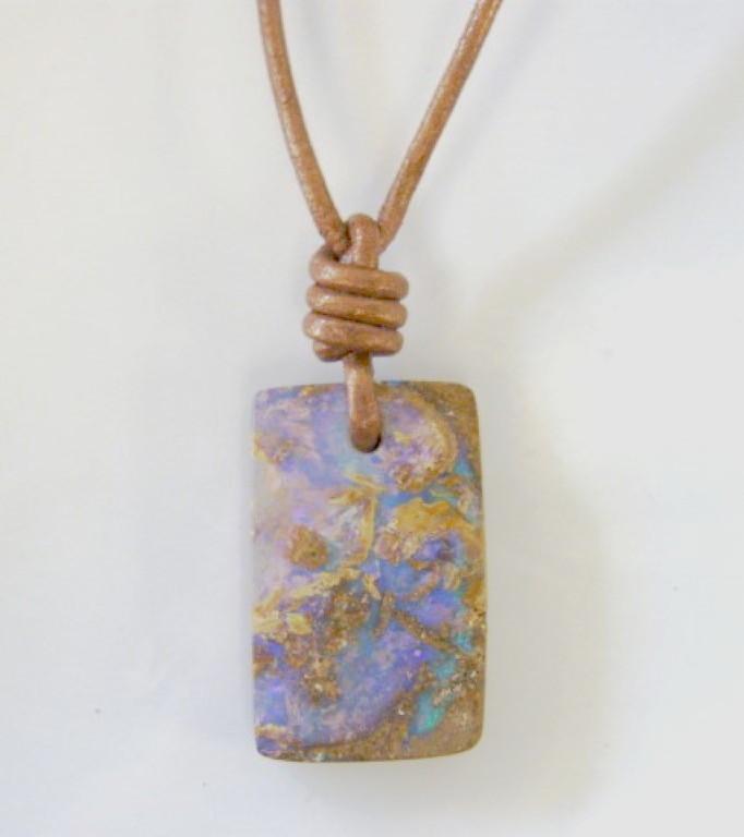 Drilled opal pendant opal endeavours aloadofball Gallery