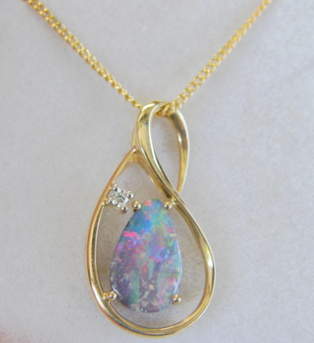 14k bright genuine boulder opal pendant fg1120 free shipping opal 14k bright genuine boulder opal pendant fg1120 free shipping aloadofball Gallery